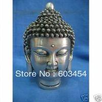 Rare China exquisite Tibet silver Buddha statue / Free Shiping