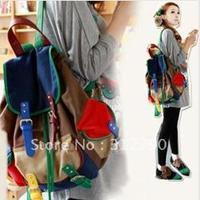 Freeshipping, Summer Canvas Lady Backpacks Climb Mountain Shoulder bags colorful Travel Bag canvas backpacks campus bag gift