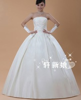 47 Free shipping 2013 newest women fashion sexy strapless lace back big bow beadings off the soulder women wedding dresses