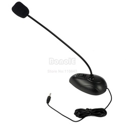 Cheapest Desktop Goose Neck Microphone Mic 3.5mm Stereo Audio Jack Noise Cancellation for PC Desktop Notebook Free Shipping 8856(China (Mainland))