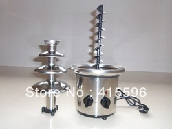 FREE FEDEX (1sets/lot) Home Chocolat fountain Stainless Steel 12 Months Warranty #XW-002T(China (Mainland))