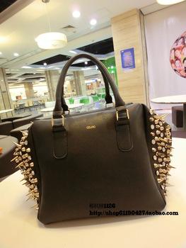 free shipping export Fashion fashion spike rhinestone  messenger  women's  bag handbag