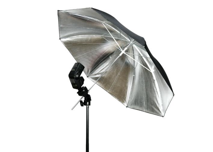 "Wholesale FOTGA 33""83cm Photo Studio Flash Light Reflector Reflective Black Sliver Umbrella(Hong Kong)"