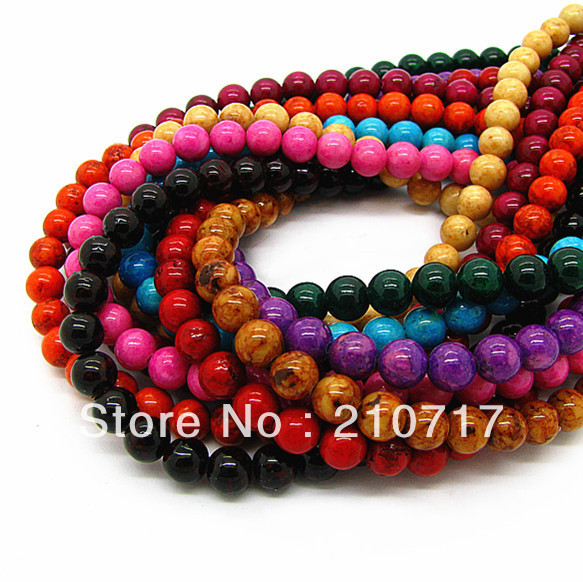 Free Shipping! Wholesale 4mm Natural Fossil Beads For Necklace & Bracelet, Jewellery Findings Loose Beads Accessories HB362(China (Mainland))