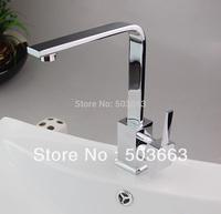Contemporary Brand New Chrome Finish Single handle Center set Kitchen Sink Faucet D-0113 Mixer Tap Faucet