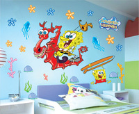 "Small size Hot Sell! SIZE30*60( 23""X13"") Sponge Bob Vinyl Wall Decal Stickers DIY Home Decor Wholesales1307 ,1PCS DROPSHIPPING"