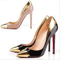 Туфли на высоком каблуке 2013 open-toe cut-outs red bottom high heel shoes neige black