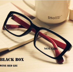 Promotion J6 vintage leopard print ultra-light plain mirror big black frame eyeglasses Glasses Freeshipping(China (Mainland))