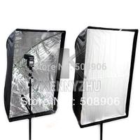New Professional 2 in 1 Umbrella Softbox 60cm x 90cm Soft Box Camera Reflector + Flash Bracket Holder  Free Shipping