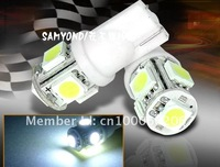 10PCS,T10 LED Bulb Car Side Wedge Light Lamp Tail Light ,Car 194 168 192 W5W LED Light,5050 T10 5SMD,FREE SHIPPING!!!!!!!!!