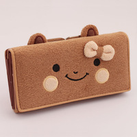 Hot sale!Free shipping!  female wallet women's long design wallet cartoon bow fashion cute purse new year gift retail/wholesale
