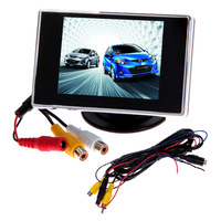 "3.5"" TFT LCD Color Rearview Reverse Backup Car DVD Player Mirror Video Monitor"