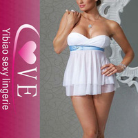 Sexy Bridal Babydoll with G-String
