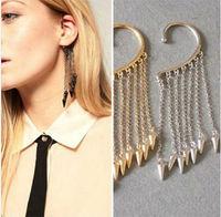 E014025(Multi-color mixed batch)  spike earrings cuff earrings cheap very good selling 24PCS/LOT FREE SHIPPING