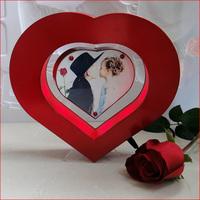Christmas Decoration Xmas Gifts Electro Magnetic Heart Shaped Floating Photo Frame /w Lights NEW Freeshipping