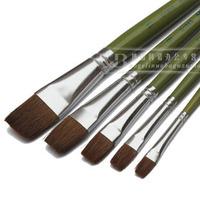 5 pcs flat weasel's hair paint brush gouache watercolor oil painting brush art supplies promotional product