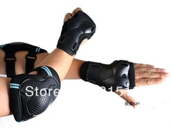 Q655 bike / pulley sports / tennis / skate / Volleyball protective equipment knee pads + elbow pad + nursing wrist(China (Mainland))