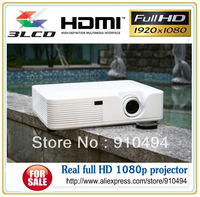 Top-quality 3LCD Projector  Full HD 1080p projector with 2HDMI TV  cheapest 1080p home theater projector