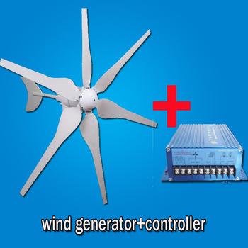 wind turbine generator kit 300W WATT 12/24V option alternator generator + controller 6 BLADES FedEx free shipping