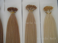 "24"" 24inch 18# Ash Blonde Color Stick I tip PreBonded Human Hair Extensions Indian Remy 1g/s 100g 100strands/pack AAA Grade"