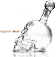 DHL/FedEx Free shipping wholesale Crystal Skull Head Shape Vodka Drinking Shot Glass Bottle Decanter 500ml