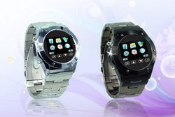 Free shipping Hot sale fashion stainless steel watch phone MQ888 stainless steel watchband phone(China (Mainland))