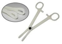 Disposable Piercing Tool Pre-Sterilized Slotted Sponge Plastic Forceps