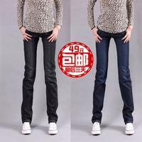 2012 pants plus size small straight pants elastic slim jeans butt-lifting 6001
