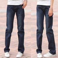 Plus velvet jeans female 2012 long trousers loose straight pants plus size mm