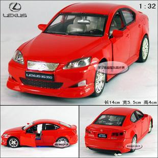New Lexus IS 350 1:32 Alloy Diecast Model Car With Sound&Liight Red