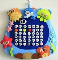 Handmade DIY Ocean wall calendar,Polypropylene nonwoven fabric DIY calendar,Via free shipping