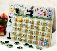 Handmade DIY a person's stage table calendar,Polypropylene nonwoven fabric DIY calendar,Via free shipping