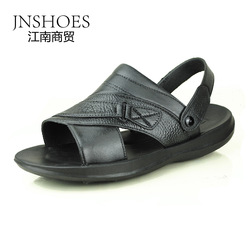 WARRIOR summer breathable faux leather sandals popular men's WARRIOR sandals leather slippers(China (Mainland))