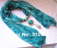 Minimum $10, Mixed items, 1pcs/lot, TL12308, Women chiffon  New  Fashion Blue Scarf, Free Shipping