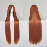 Cosplay wig orange 100cm chaoshun long straight hair general cosplay wig