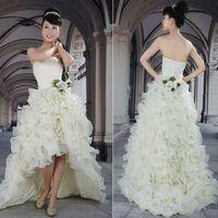 Venus bride low-high high waist wedding dress formal dress 2012
