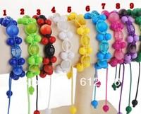handmade DIFFERENT COLOR  rosary beads bracelet fashion round acrylic rosary bracelet ,disco ball bracelet