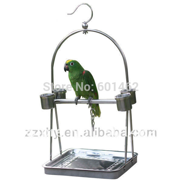 Hot Sale Stainless Steel Parrot Stand, Parrot Play Stand(China (Mainland))