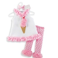 Wholesale - Ice cream model Gauze baby girl Absorbent Scapegoat towel Children's Outfits 3s/lot free shipping