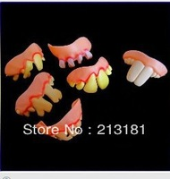 Free shipping Terrible Funny Goofy Fake Rotten Teeth Halloween Party Favor Creepy Dentures
