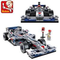 Sluban  plastic  insert toys F1 Racing car  models diy toys for kids Educational brick  assembly toy  blocks