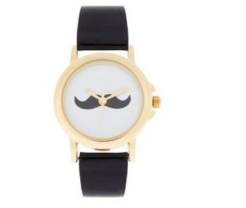 HOT- watchband black mustache bow watch Fashion&casual sport/wholesale&retail-euramerican-round wristwatches