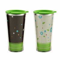 Ike brief stainless steel color changing mug double layer insulated glass