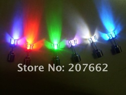 2013 NEW arrival New design 10pcs/lot(5pairs)Free shipping 20*7mm 8color led stud earring led earring paryt earring for party(China (Mainland))