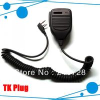 10pcs/lot Free shipping two way radio speaker mic for TK-3107 TK-3307 FM transceiver TK-2307 radio TK-3207 TK-2107 (KMC-17)