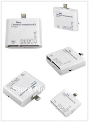 5 in 1 Camera Connection Kit USB TF SD Card Reader for iPad Mini/ ipad 4 free shipping wholesale and retail 1pcs/lot(China (Mainland))