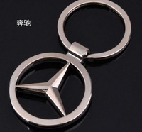 Chrome Mercedes BENZ car standard key ring chain free shipping New gift