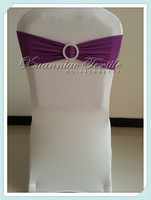free shipping purple spandex band for chair decoration