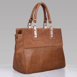 2013HOT high quality real WEIDIPOLO brand handbag for women Genuine cow leather brown bag freeship Promotion!86231(China (Mainland))