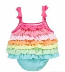 super cute  sleeveless girl romper Rainbow stripes sling romper Romper Jumpsuit size 80 90 95